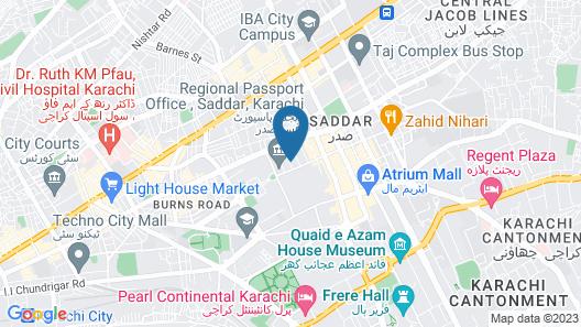 Hotel Crown Inn Map