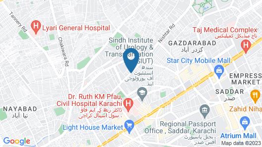Service Apartments Karach Map