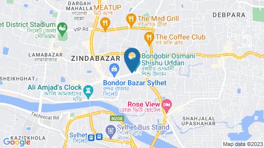 Hotel Metro International Map