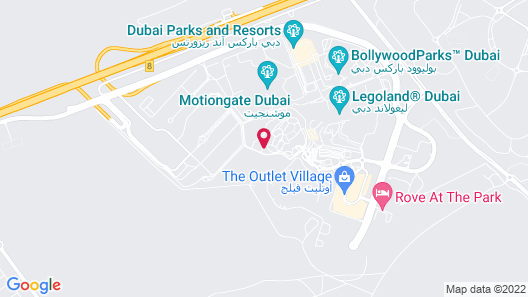 Lapita, Dubai Parks and Resorts, Autograph Collection Map