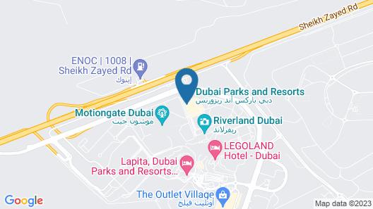 LEGOLAND Hotel Dubai Map