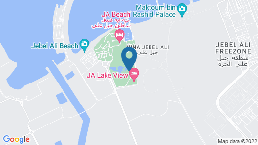 JA Lakeview Hotel Dubai Map