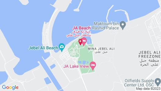 JA The Resort - JA Beach hotel Map