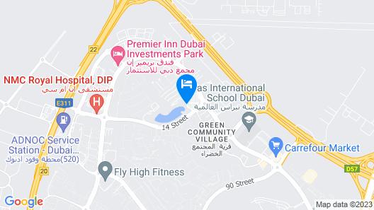 Courtyard by Marriott Dubai Green Community Map