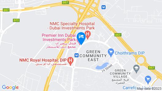 Premier Inn Dubai Investment Park Map