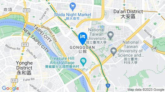 Amy House NTU Taipei Gongguan Loft Map