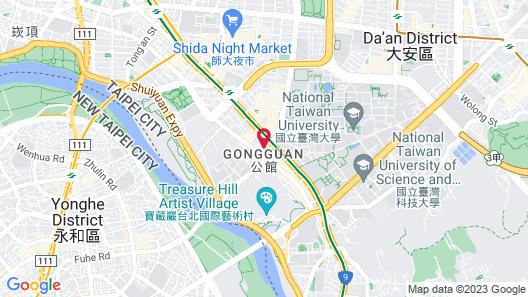 Oxygen Taipei NTU Service Apartment of Hotel Map