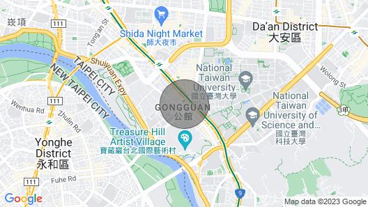 S&J Oxygen Taipei NTU Gongguan Service Apartment Map