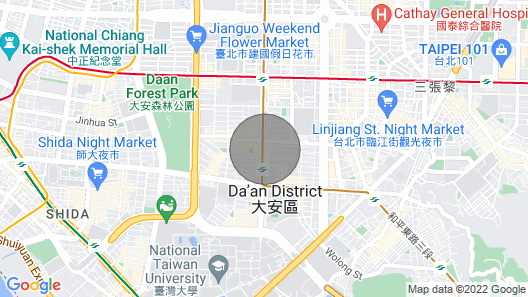 Center City GEM 2b1b - Daan District, MRT 2.5 min Map