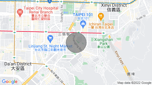 Taipei 101 MRT warm House 3~7ppl Map