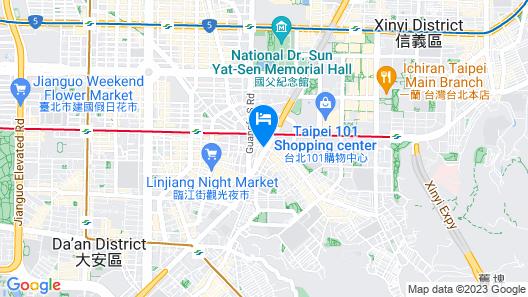 Members Hotel at Taipei 101 Map