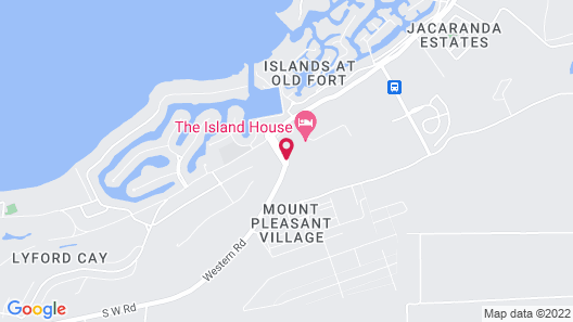 The Island House Map