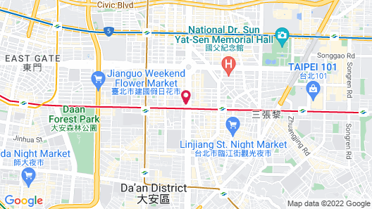 Hotel Eclat Taipei Map