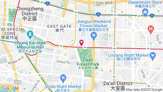 Dandy Hotel Daan Park Branch Map