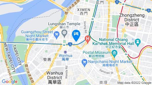 Ximen Duckstay Hostel Map