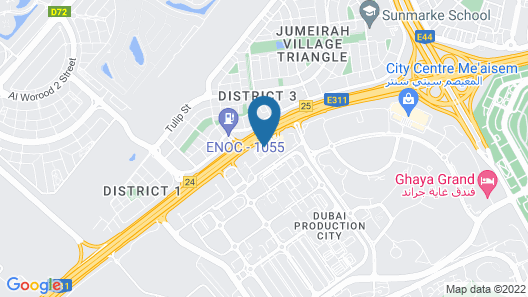 Occidental Dubai Production City Map