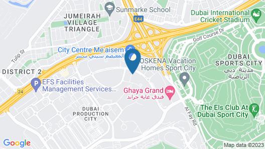 Aloft Me'aisam, Dubai Map