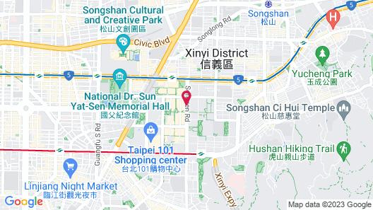 Le Meridien Taipei Map