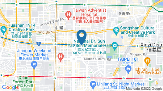 San Want Hotel Taipei Map