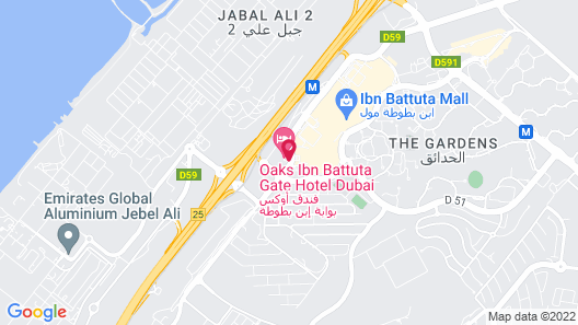 Oaks Ibn Battuta Gate Dubai Map
