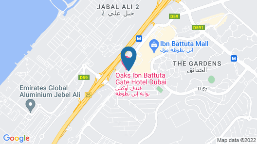 Oaks Ibn Battuta Gate Dubai Map