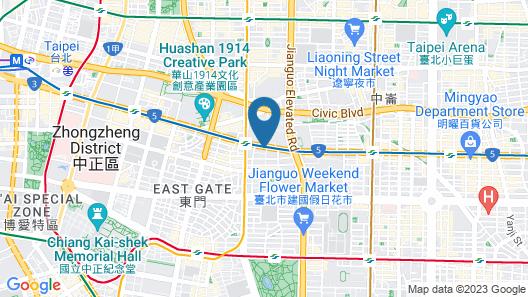 MGH Mitsui Garden Hotel Taipei Zhongxiao Map