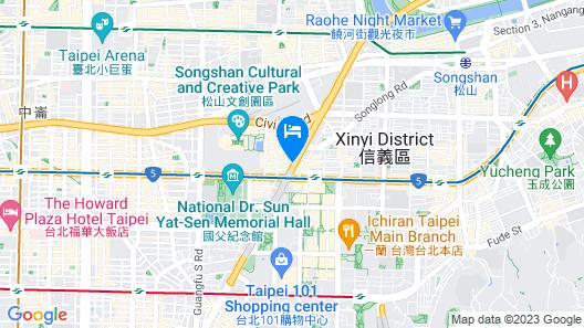 Just Inn - City Hall Map