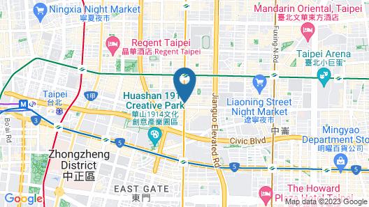 Evergreen Laurel Hotel Taipei Map