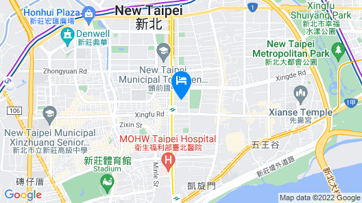 Happiness Inn Hotel, New Taipei City Map