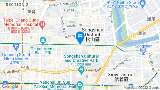 Hotel East Taipei Map