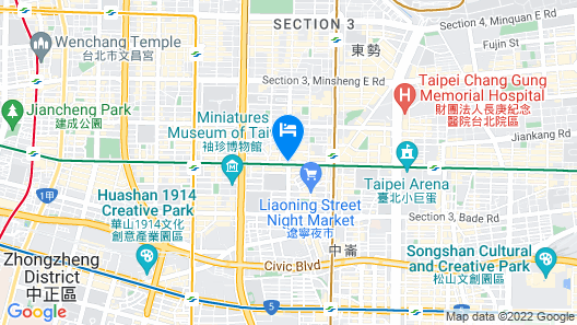 FX Hotel Taipei Nanjing East Road Branch Map