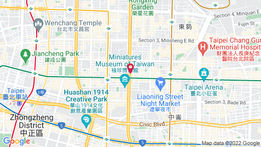 Capital Hotel Taipei Map