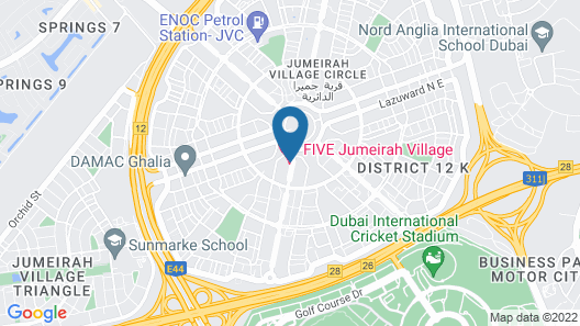 FIVE Jumeirah Village Dubai Map