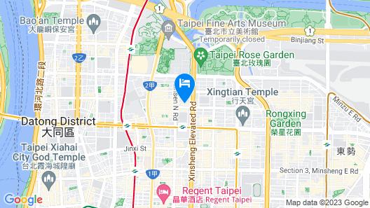 Taipei Lotty Hotel Map