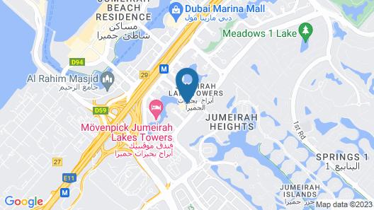 Bonnington Jumeirah Lakes Towers Map