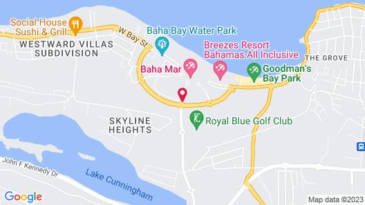 Rosewood Baha Mar Map