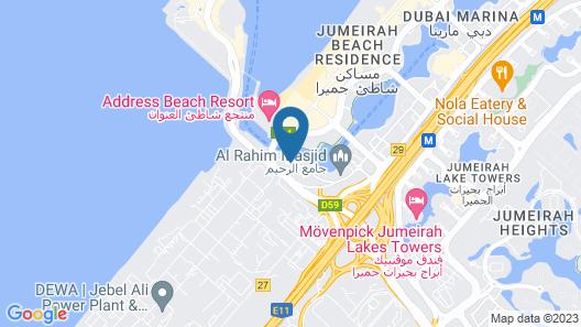 Rove Dubai Marina Map