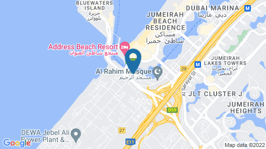 Wyndham Dubai Marina Map