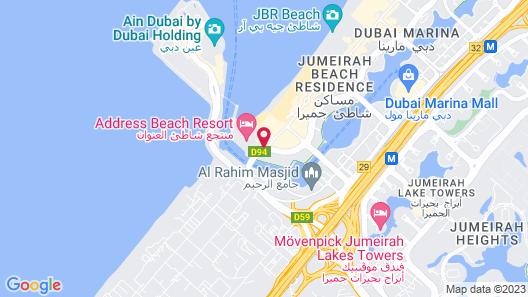 DoubleTree by Hilton Dubai - Jumeirah Beach Map