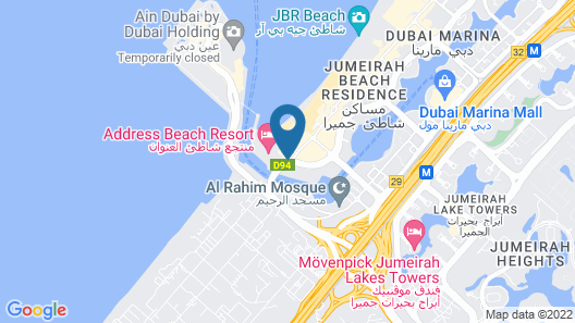 DoubleTree by Hilton Dubai - Jumeirah Beach Map