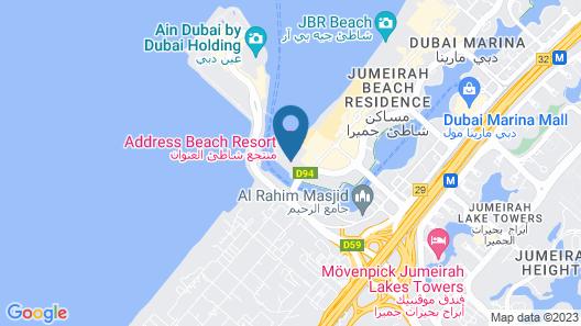 Address Beach Resort Map
