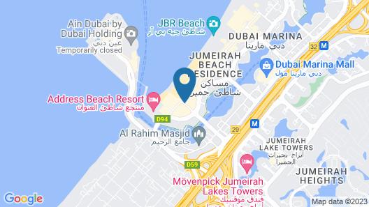Amwaj Rotana - Jumeirah Beach Residence Map