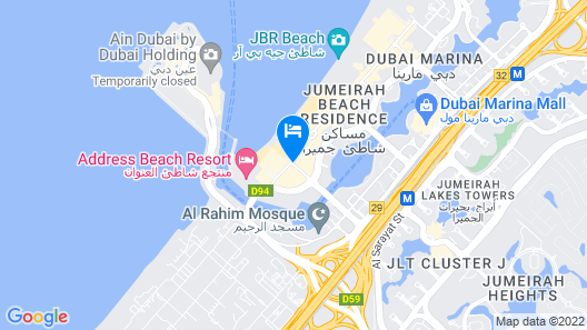 JA Ocean View Hotel Map