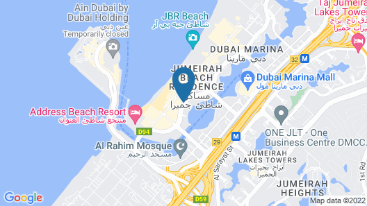 Sofitel Dubai Jumeirah Beach Map