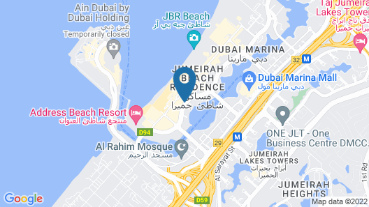 Sofitel Dubai Jumeirah Beach Map