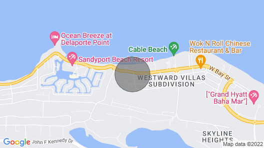 Red Velvet Villa at Cable Beach Nassau Bahamas is Your Home Away From Home! Map