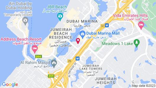 Crowne Plaza Dubai Marina, an IHG Hotel Map