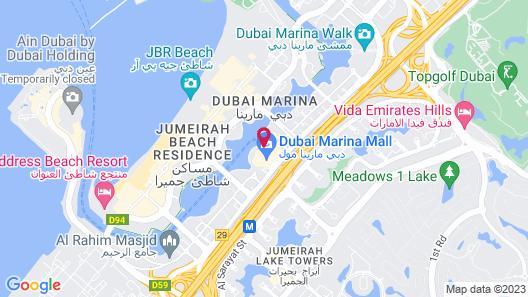 Address Dubai Marina Map