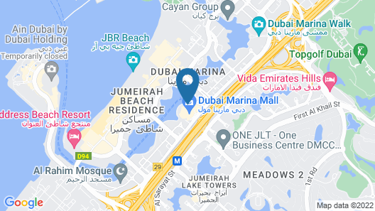 Address Dubai Marina Map