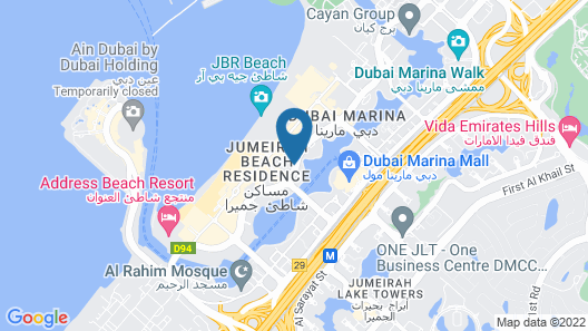 Delta hotels by Marriott Jumeirah Beach, Dubai Map